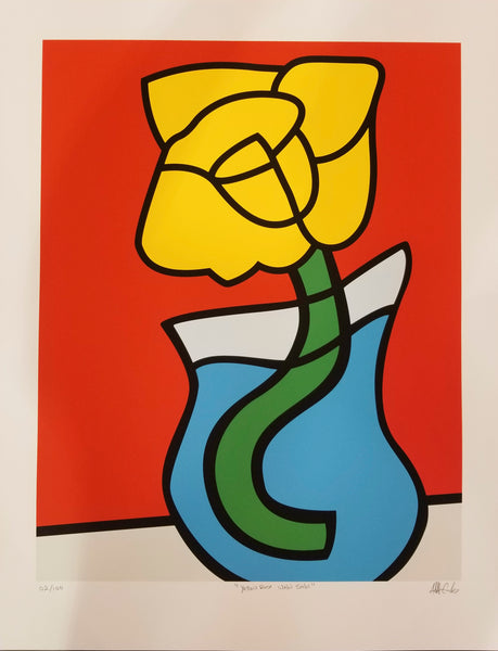 """Wabi Sabi Yellow Rose"" (100 Limited Edition Screenprints)"