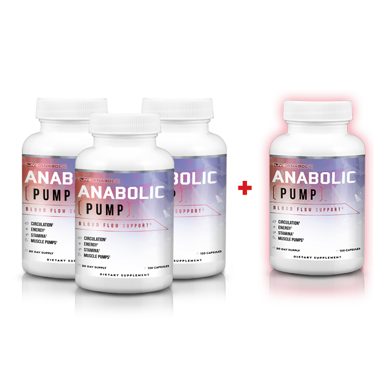 Anabolic Pump - 3 Bottles, Get One Free - Special Offer