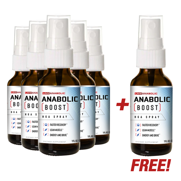 Anabolic Boost - Buy 5 Bottles, Get 1 FREE