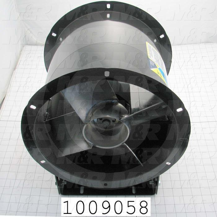 "Tubeaxial, 12"" Blower Diameter, 200F Temperature Rating, 2432CFM Max. Air flow"