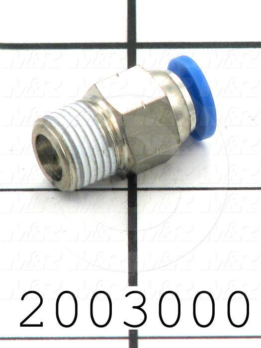 "Fitting, 1/8 NPT Port Size, Single Mounting Type, With Seal, 5/32"" Tube OD, Straight ( 10 Pack )"