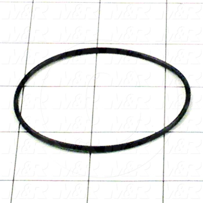 "Seals and O-Rings, Static, O-ring Round Cross Section, 2.38"" Outside Diameter, 2.25"" Inside Diameter, 0.07"" Width, -40F/+250F Temperature Rating, Buna-N, Black"