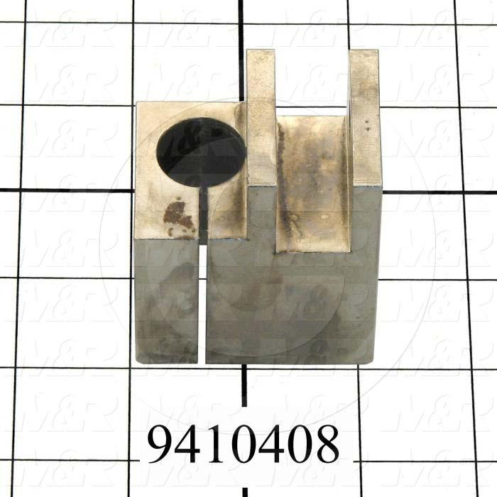 Fabricated Parts, Squeegee Holder Bracket, 2.06 in. Length, 1.50 in. Width, 2.50 in. Height, Left Side