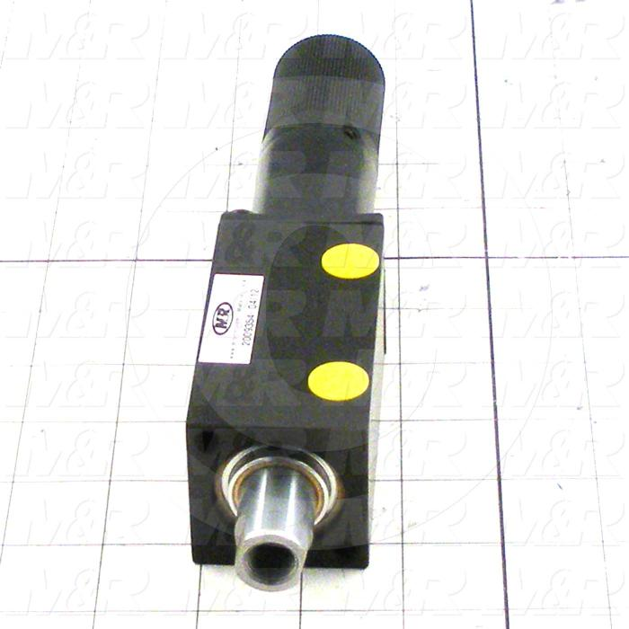 "Air Cylinders, Double Rod Type, Standard NFPA, 1/2-20 UNF Rod Thread, Double Acting Model, 1 1/4"" Bore, 1 1/2"" Stroke, Chopper Function"