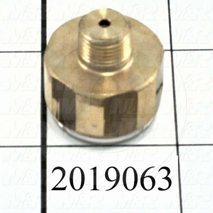 "Gauge, 1.00"" Outside Diameter, 160 Psi Max. Pressure, 1/8"" NPT Thread Size"