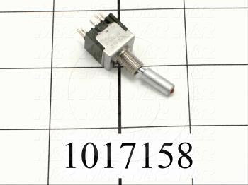 Toggle Switch, SPDT, Led Red, 125VAC, 6A