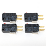 Microswitch 50gf - 0.250in (Omron D3V-6G-1C3) - 4 Pack