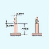 Snap-In Adhesive PCB Feet - 3mm Hole, 7.9mm Height (4 pack)