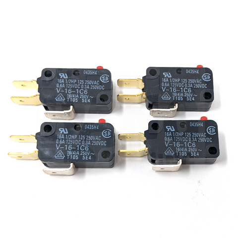 Microswitch 400gf - 0.250in (Omron V-16-1C6) - 4 Pack