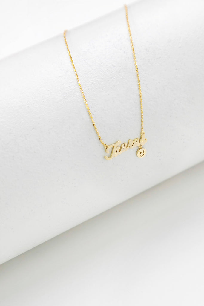 TAURUS HOROSCOPE NECKLACE