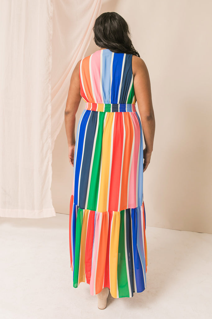 LET YOUR GUARD DOWN MAXI DRESS