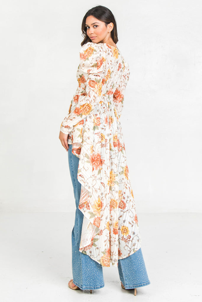 PRINTED LUREX MAXI TOP