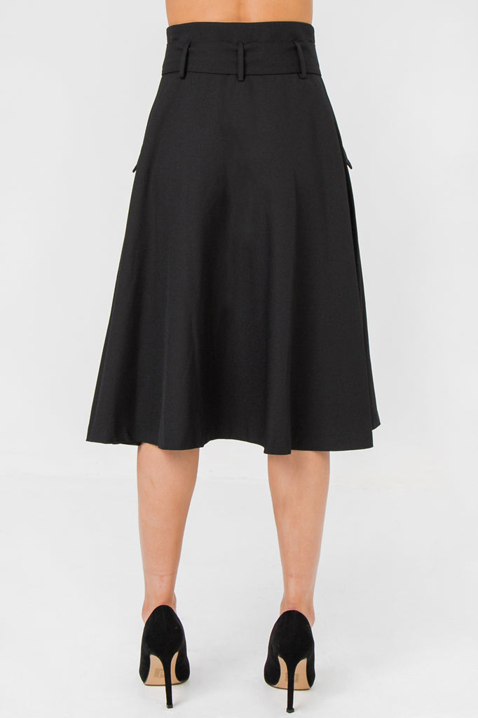 MIDI SKIRT FEATURING HIGH WAIST