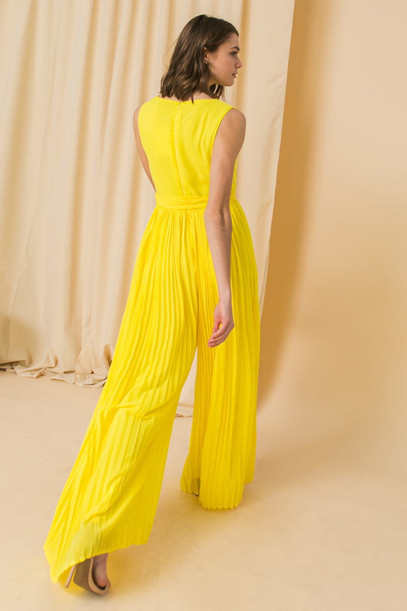 TAKE A PICTURE YELLOW WOVEN JUMPSUIT