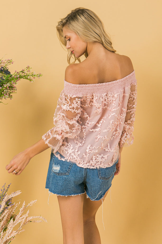 IT ALL BEGINS WITH LOVE WOVEN TOP