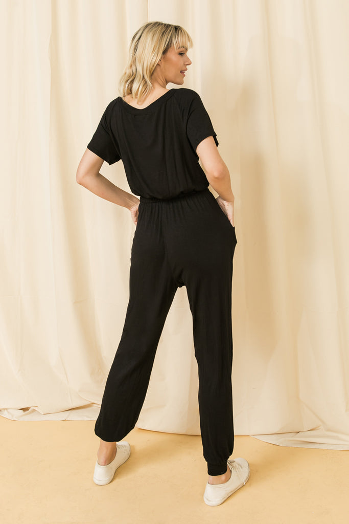 MAKE TIME FOR LOVE KNIT JUMPSUIT