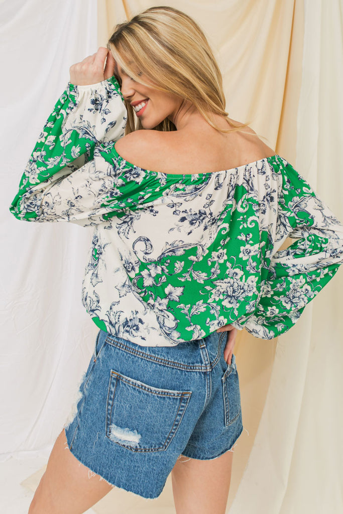 ENDLESS EXPEDITION OFF SHOULDER TOP
