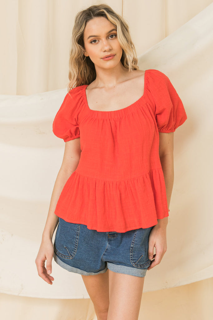 CONSTANT LOVE SONG WOVEN TOP