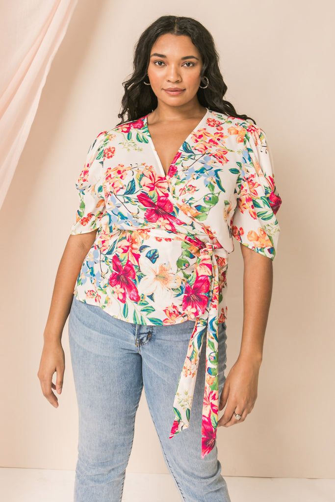 TOTAL SWEETHEART FLORAL CROP TOP