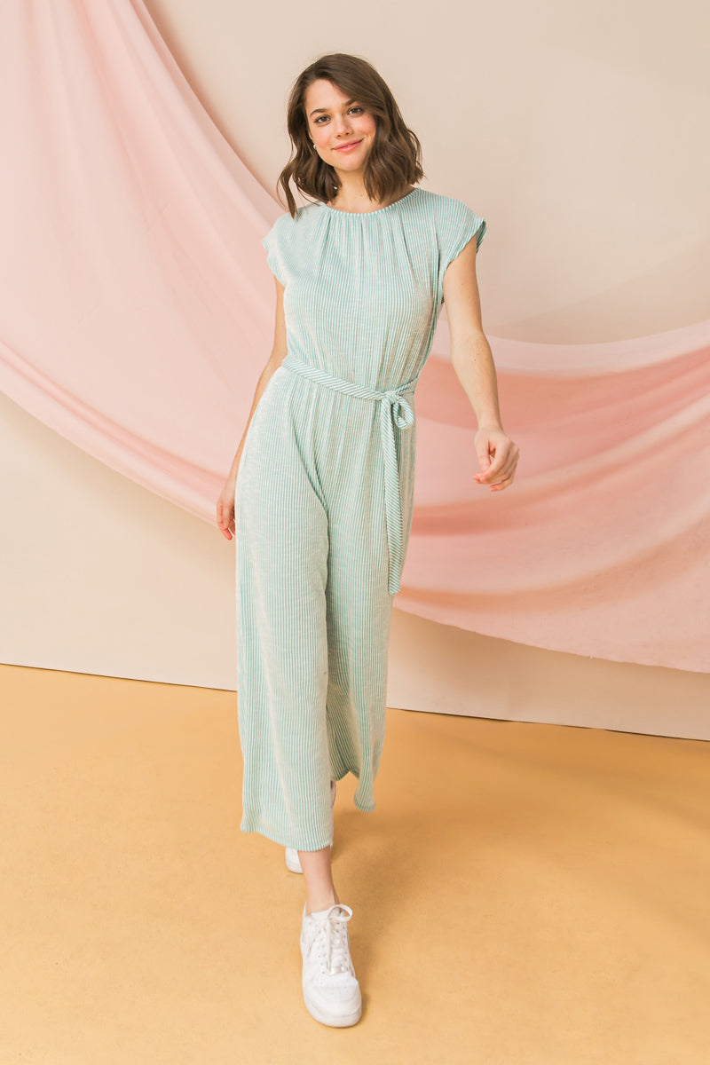 WIDE LEG KNIT JUMPSUIT