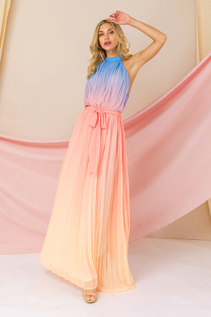 RUNNING THROUGH GARDENS MAXI DRESS