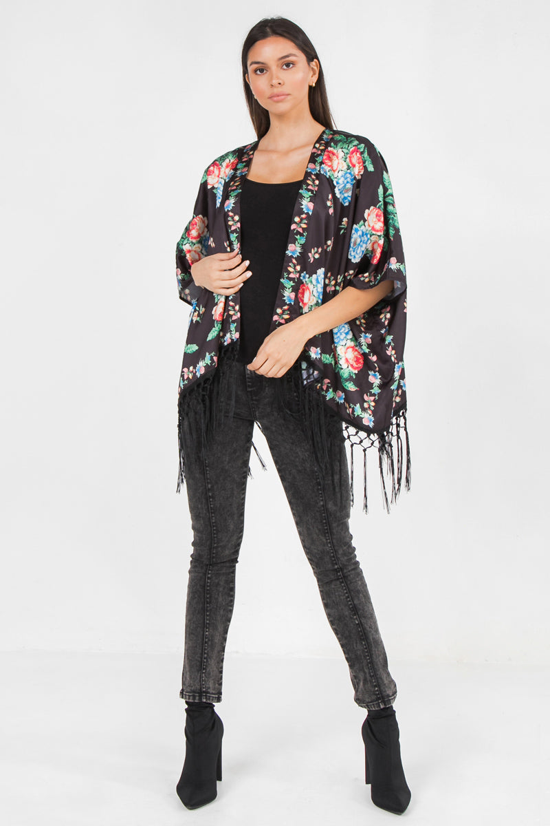PIECE PRINT SATIN COVER UP