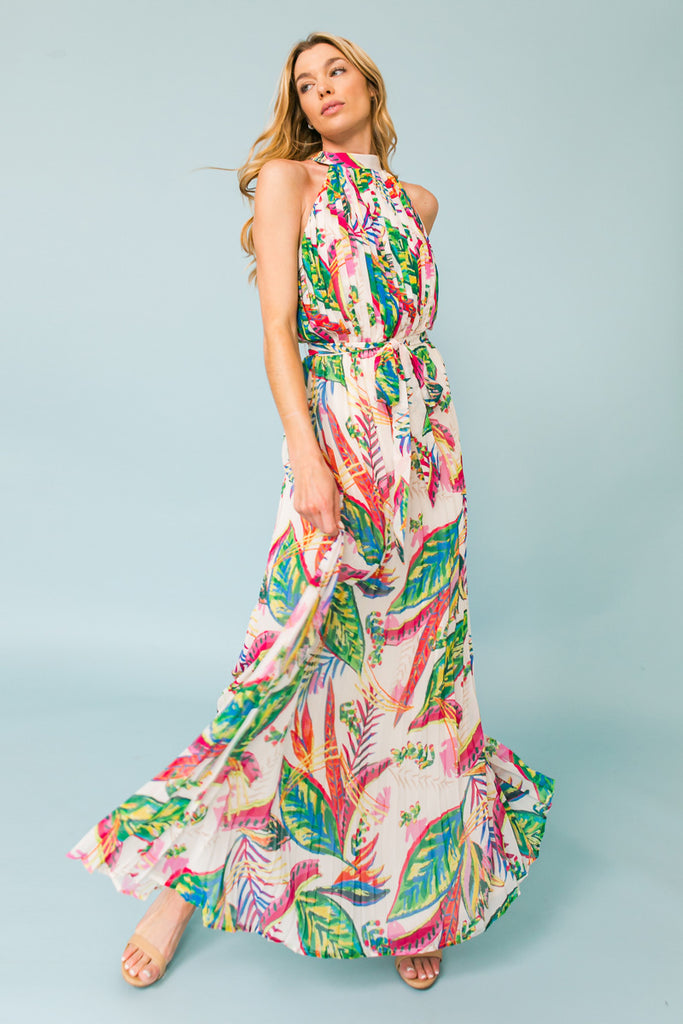 CALL ME ANGEL FLORAL MAXI DRESS