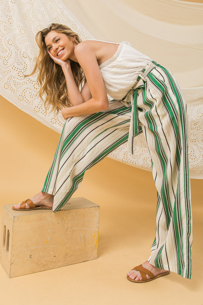 CONNECT TO YOUR HEART STRIPED PANT