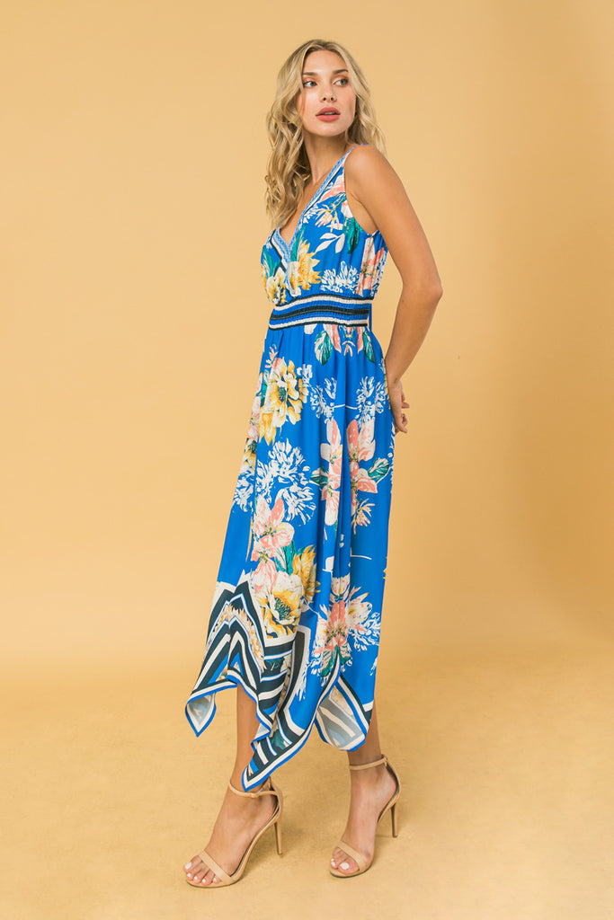 MORE FLOWER TO YOU IVORY PRINT MIDI DRESS