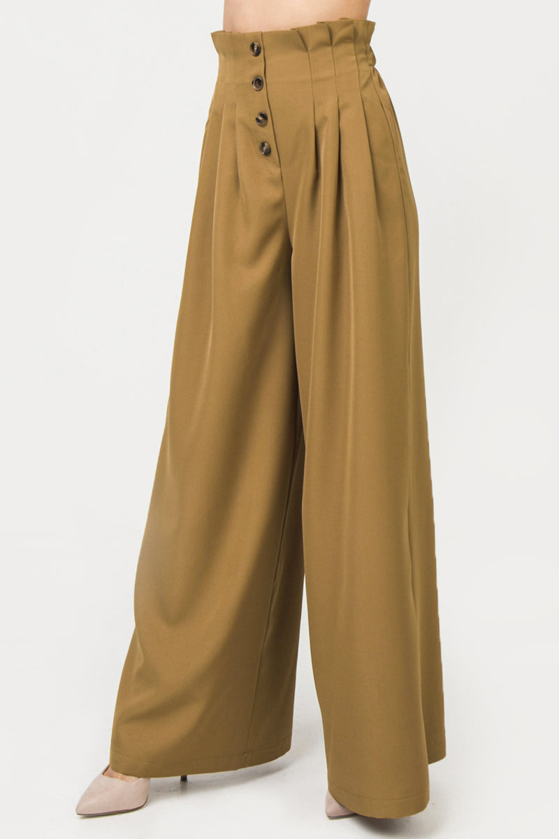 WOVEN PANT FEATURING HIGH WAIST