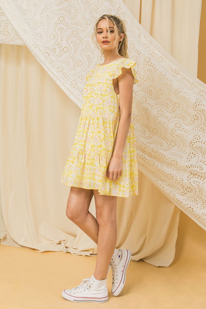 HOPELESSLY YOURS PRINT WOVEN DRESS