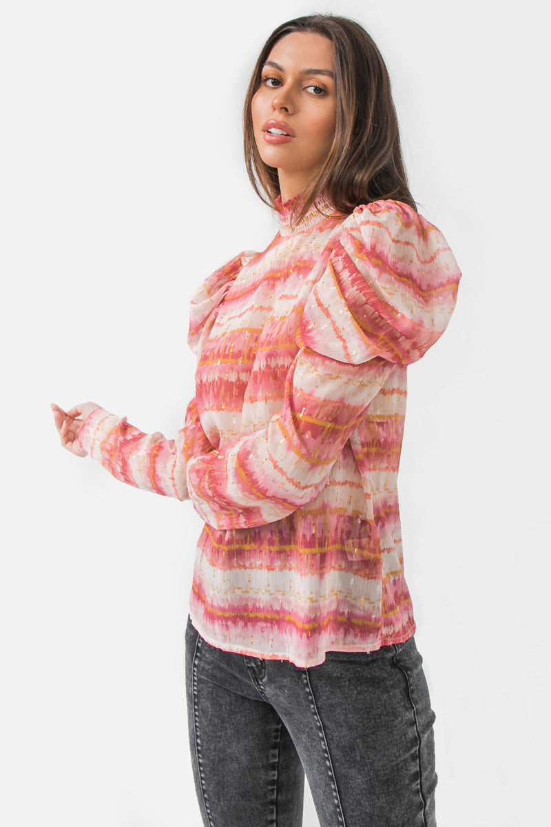 PUFF WOVEN TOP