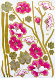 Vivid Flowers - Large Wall Decals Stickers Appliques Home Decor