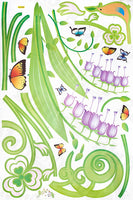 Butterflies And Ivy - X-large Wall Decals Stickers Appliques Home Decor
