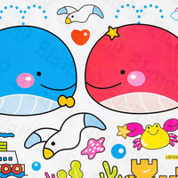 Dolphins Couple - Wall Decals Stickers Appliques Home Decor