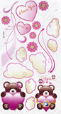 Twin Bear - Wall Decals Stickers Appliques Home Decor