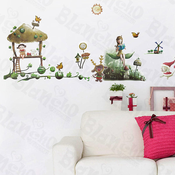 Village 3 - Wall Decals Stickers Appliques Home Decor