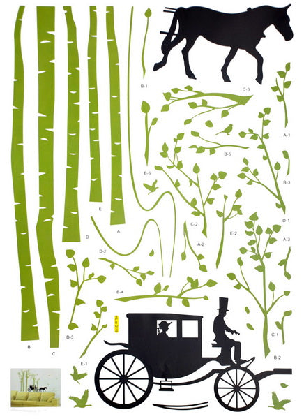 Country Road - Large Wall Decals Stickers Appliques Home Decor