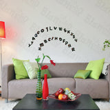 Christmas Alphabet - Hemu Wall Decals Stickers Appliques Home Decor 9.4 By 16.5 Inches
