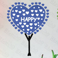 Happy Hope Love - Hemu Wall Decals Stickers Appliques Home Decor 12.6 By 23.6 Inches