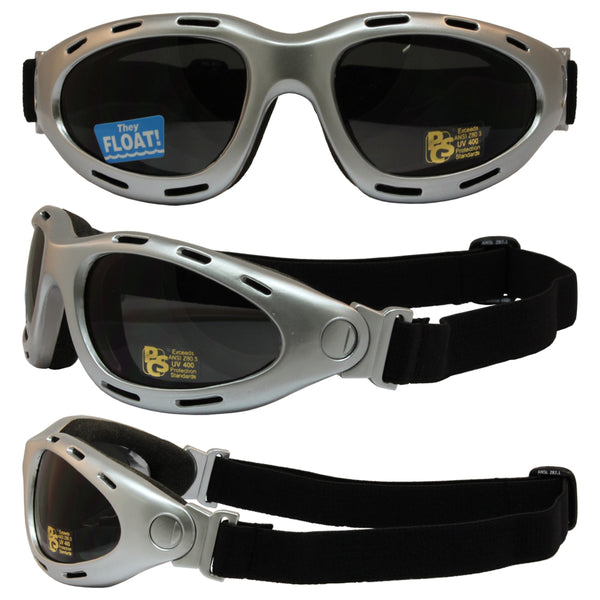 Dyno Value Riding Folding Goggles With Silver Frame And Smoke Lens