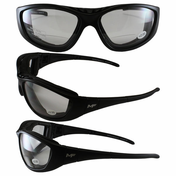 Patriot Black Frame Clear Lenses 2.0x Glasses-goggles