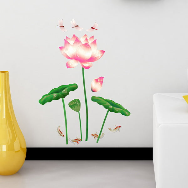 Elegant Miss Lotus - Wall Decals Stickers Appliques Home Dcor