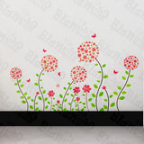 Flowers Wonderland - Wall Decals Stickers Appliques Home Dcor