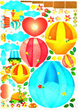 Hot-air Balloon Party- Wall Decals Stickers Appliques Home Dcor