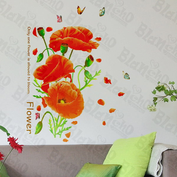 Showy Flower - Wall Decals Stickers Appliques Home Dcor