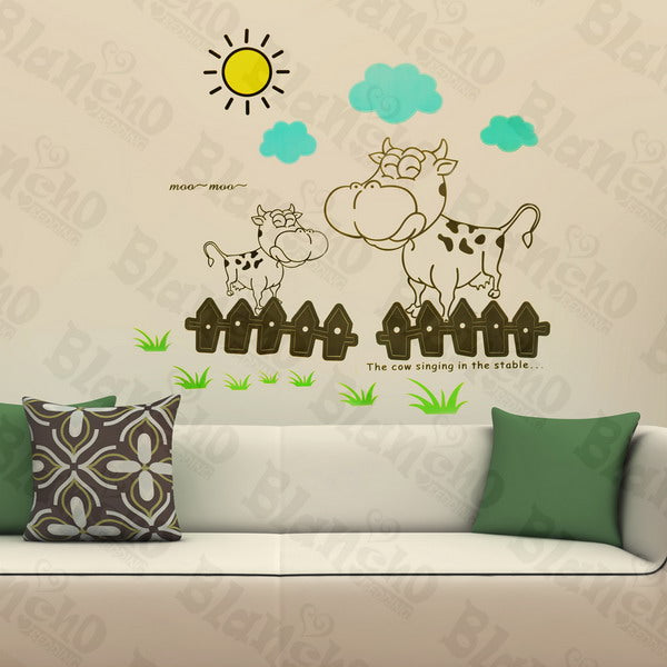 Sunny Cow - Wall Decals Stickers Appliques Home Dcor