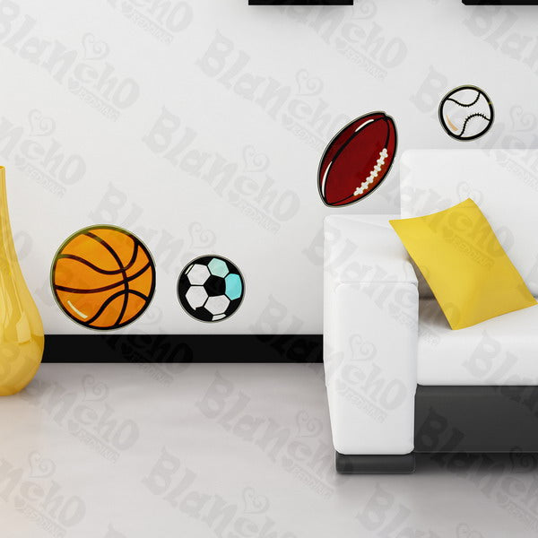 Ball Collection - Wall Decals Stickers Appliques Home Dcor