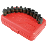 11-piece 3-8 In. Drive Drain-pipe Plug Impact Socket Set