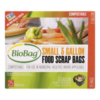 Biobag - 3 Gallon Compost-waste Bags - Case Of 12 - 25 Count